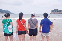 龙8娱乐公司员工集体出游南麂岛